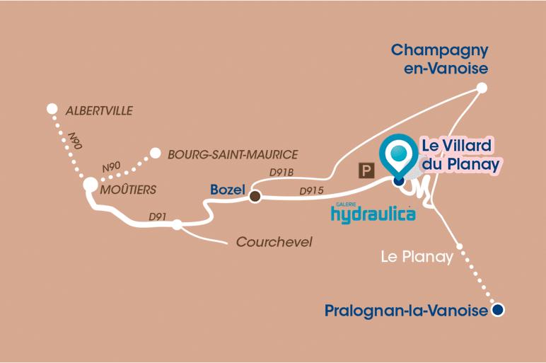 plan accès Villard du Planay